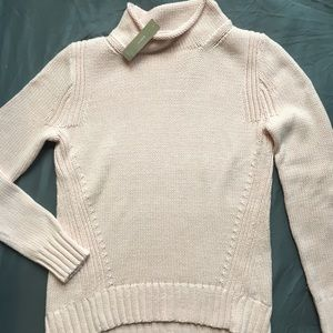 J Crew Rollneck Pink Cotton Sweater, Brand New, XS